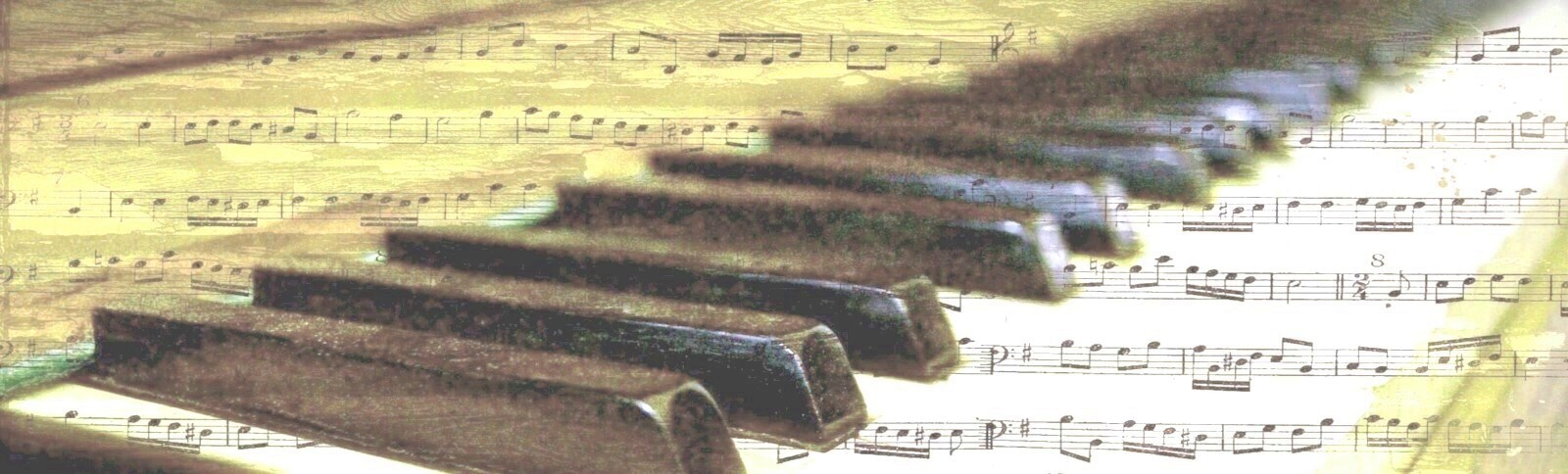 piano with music notation